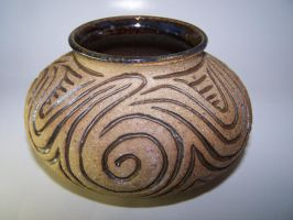 Carved Stoneware Pot by RenaissanceMan1