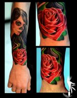 day of dead rose by eminimal