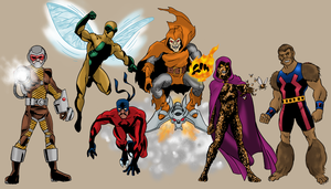 A few Marvel villains by Joe-Singleton