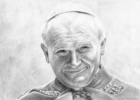 john paul II, portrait. by marika-k