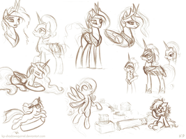 Random Pony Sketches 4 by KP-ShadowSquirrel