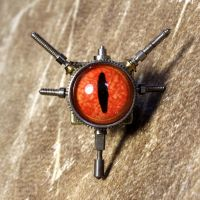 Steampunk reptile tie tack by CatherinetteRings