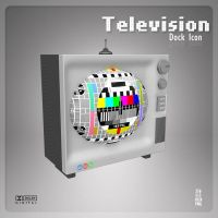 Television Dock Icon by AlperEsin
