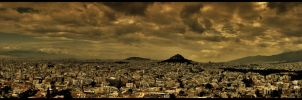 dark skyes over Athens by odainiq