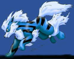 Blue arcanine by Pokethief