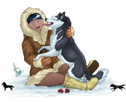 Eskimo kisses by tailfrost