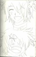 In my drawing notebook: boris face emotions #1 by xanimedrawerx