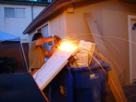 Sawing Metal by stephuhnoids
