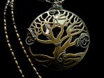 Maiden Mother Crone Glow Moon Tree Pendant by LadyPirotessa