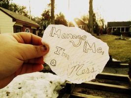 Manage me, I'm a mess. by maraaax3