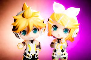 Rin and Len -Append- by Etherien