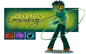 Pharazon Gaming banner Commission by BabaKinkin