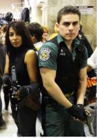 Chris from resident evil and regina dino crisis by Chris--Redfield
