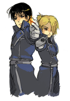 FMA - Roy and Riza by FieryCheeZe