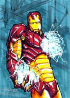 Iron Man Sketchcard by Walter-Ostlie
