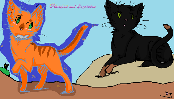 flamepaw and ivyshadow~ by vinespeck