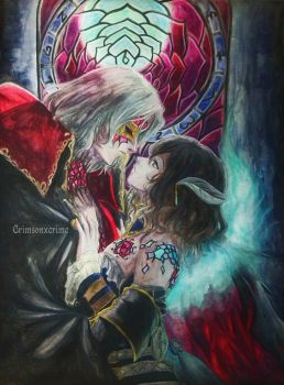 Ne me quitte pas |  Gebel and Miriam Bloodstained by CrimsonxCrime