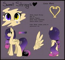Sweet Strings Reference Sheet by Drawing-Heart