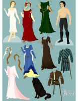 Beauty's Beast: The Paperdolls by Valky