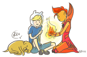 AT: Finn and Flame Prince by Nevheera