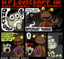 H.P. Lovecraft by scythemantis