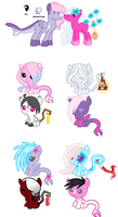 MLP Breedable: Kendall and Sapphire -CLOSED- by ChopstickGirl241
