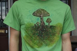 Mushroom fungus shirt (old) by iscaylis