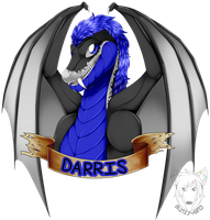 Badge Commission: Darris by Blitzy-Arts