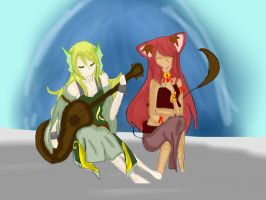 SS: Laina and 'Abal Music by the Fountain by Just-Anothr-Fan