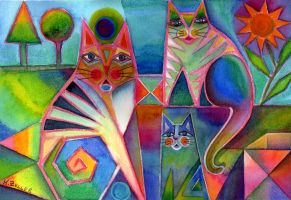 Happy cats by karincharlotte