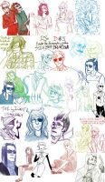 Homestuck Sketchdump :3 by LunariChaos