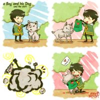 Marvel: A boy and his dog #1 by nowwheresmynut