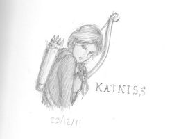 Katniss Sketch by TheMuzbo