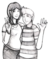$5 Sketches - Hanna and Lucas by matilda-caboose