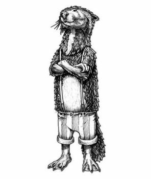 Otter in Suspenders by untamedc