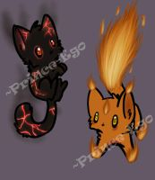 Fire kittens Adoptables! [CLOSED] by Prince-Ego