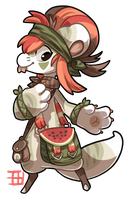 #86 Nomnom Bagbean - Watermelon - CLOSED by griffsnuff