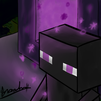 Just an enderman by Digital-Quill-Studio