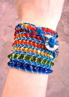 Rainbow 7-Wrap Bracelet by Key-Kingdom