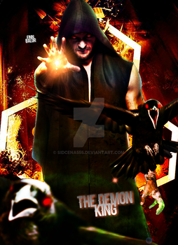 Finn Balor - The Demon Poster 2017 by SidCena555