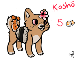 -CLOSED- prawn sushi shibe adoptable by SorbetSketches