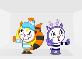 Mime and Ribbons by GoneIn10Seconds