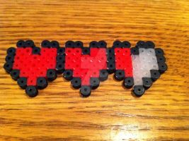 Heart Container Perler Bead by Viverra1