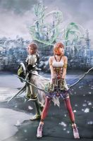 Serah And Lightning XIII-2 by burstinella