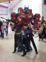 Optimus Prime, Black Widow, and Hawkeye by Old-Trenchy