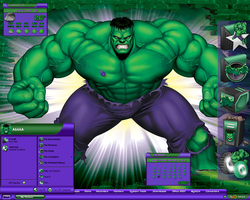 Incredible Hulk Desktop II by a666a