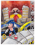 Sonic in chemical plant zone by Lumary92