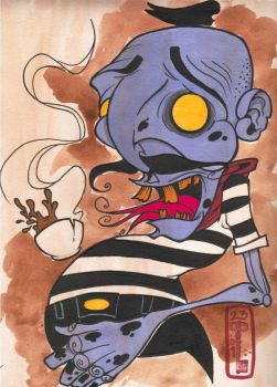 Ze frenchman zombie by DaveGrimm