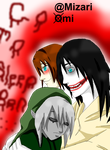 Jeff the Killer x Ben Drowned by MizariOmi