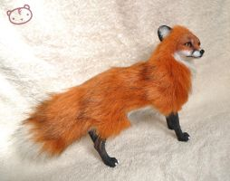 Red fox- posable art doll by LisaToms